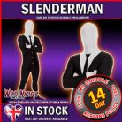 "MENS ADULT SLENDER MAN MORPHSUIT FANCY DRESS COSTUME X LARGE 5' 9"" TO 6' 1"" HEIGHT"